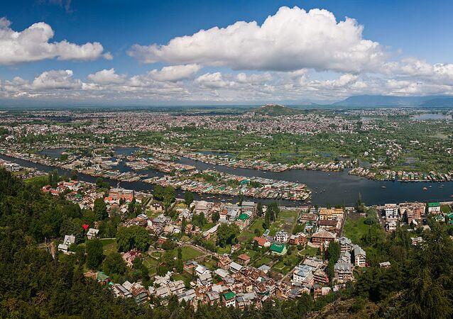 View of Dal Lake and the city of Srinagar