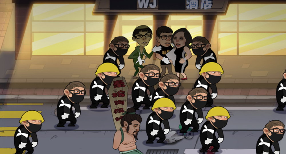US diplomat Julie Eadh, Joshua Wong, and other figures associated with the Hong Kong anti-government protests are featured in the new video game Everyone Hit the Traitors