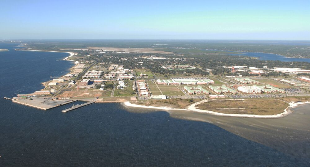 Naval Air Station Pensacola is seen in an aerial view in Pensacola, Florida, U.S. August 14, 2012. Picture taken August 14, 2012. U.S.