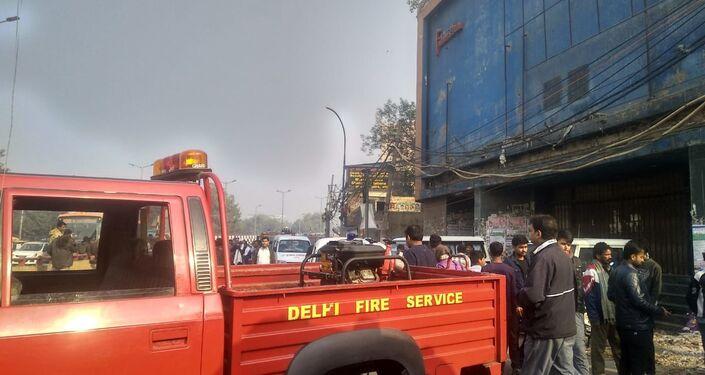 Fire brigade in New Delhi