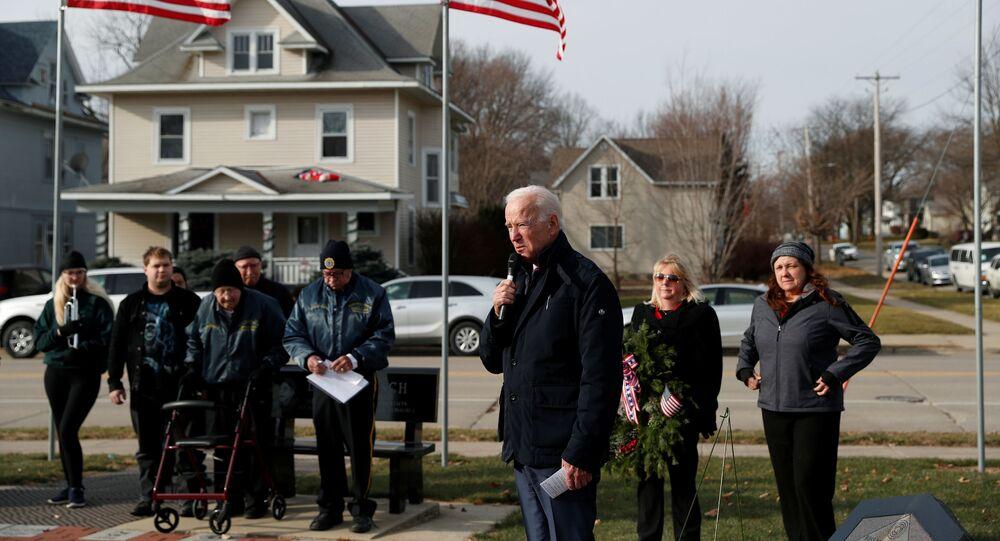 Democratic 2020 U.S. presidential candidate and former U.S. Vice President Joe Biden