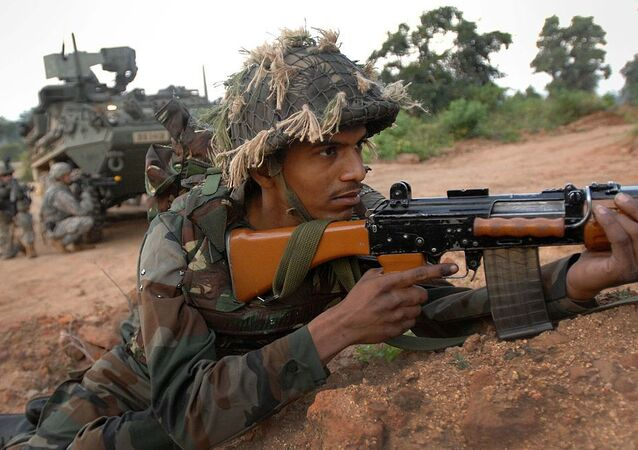 An Indian soldier