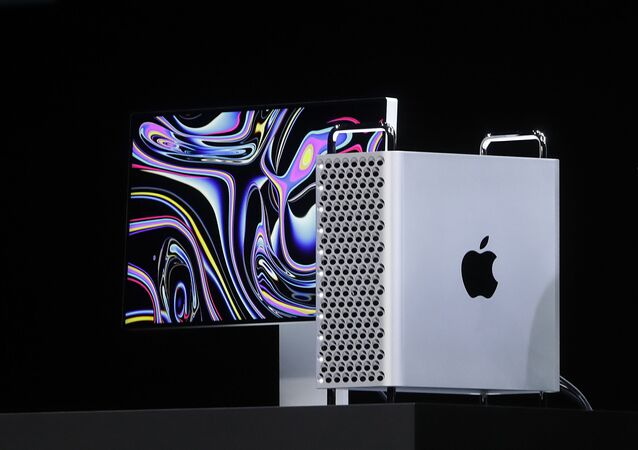 In this June 3, 2019, file photo, Apple CEO Tim Cook speaks about the Mac Pro at the Apple Worldwide Developers Conference in San Jose, Calif. Apple announced Monday, Sept. 23, it will continue manufacturing its Mac Pro computers in Texas after the Trump administration approved its request to waive tariffs on certain parts from China.