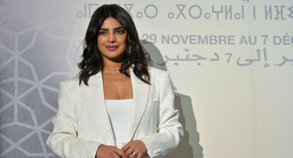 Priyanka Chopra attends the Conversation with section at the 18th edition of the Marrakech International Film Festival, Morocco December 5, 2019