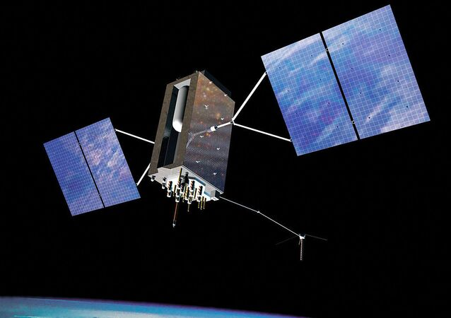 Artist's impression of a GPS Block satellite in orbit