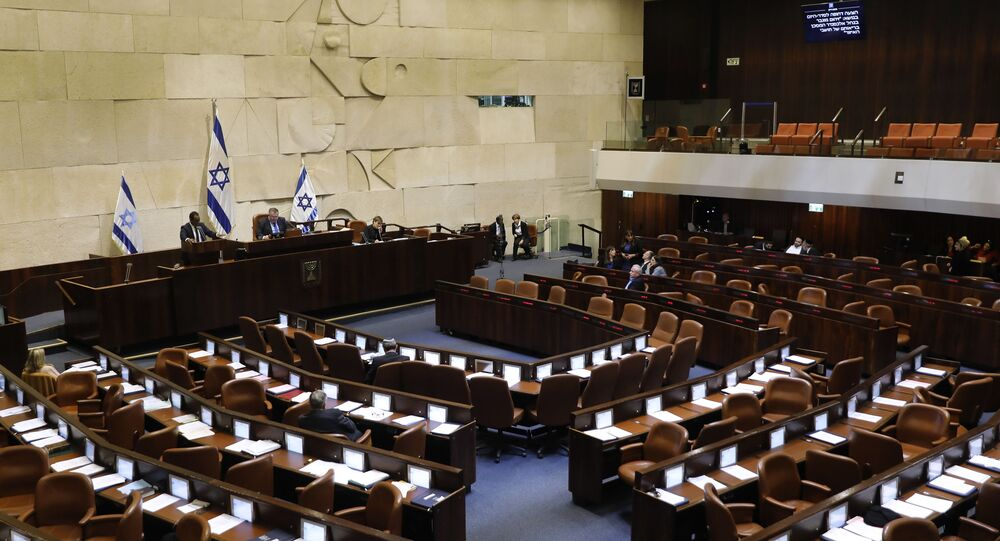 A general view of the Knesset (Israeli parliament) in Jerusalem on December 11, 2019