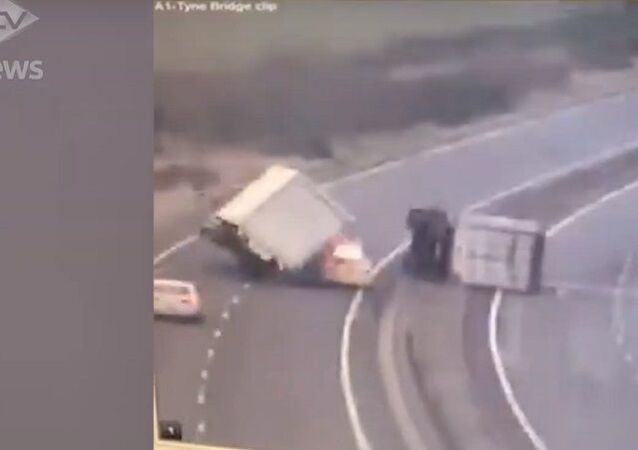Road accident in UK
