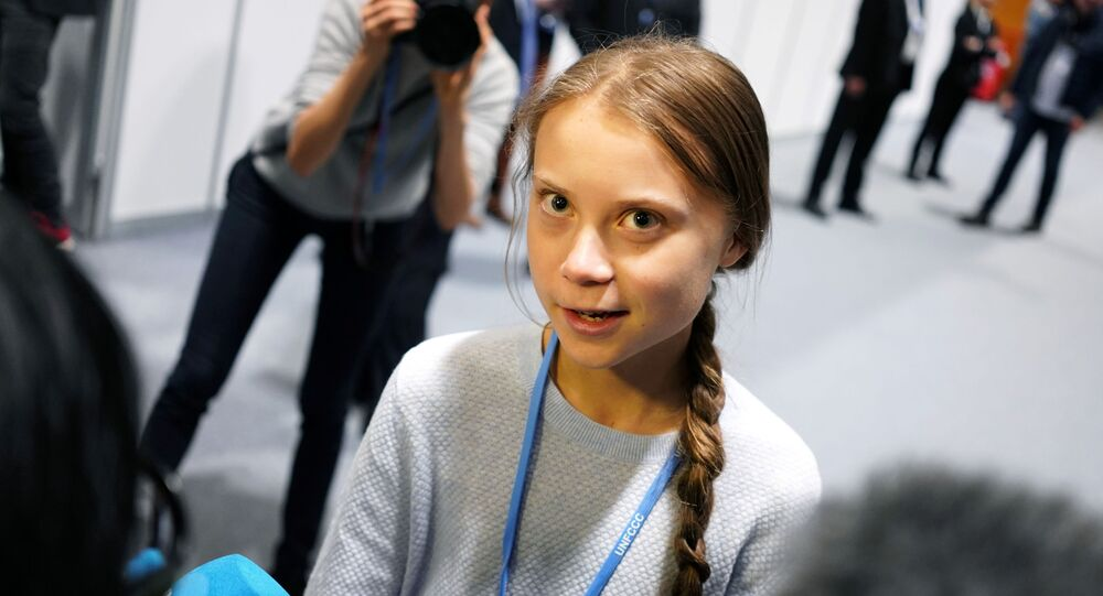 Climate change activist Greta Thunberg speaks to media during COP25 climate summit in Madrid, Spain, December 9, 2019