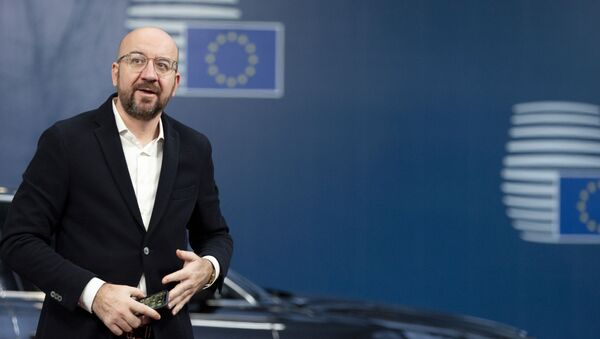 Incoming President of the European Council Charles Michel arrives at the EU Council building in Brussels, Monday, Nov. 25, 2019. - Sputnik International