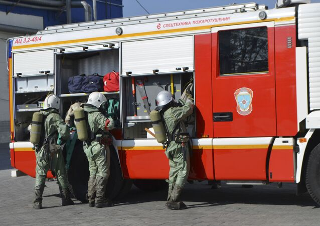 Fire servicemen in Russia