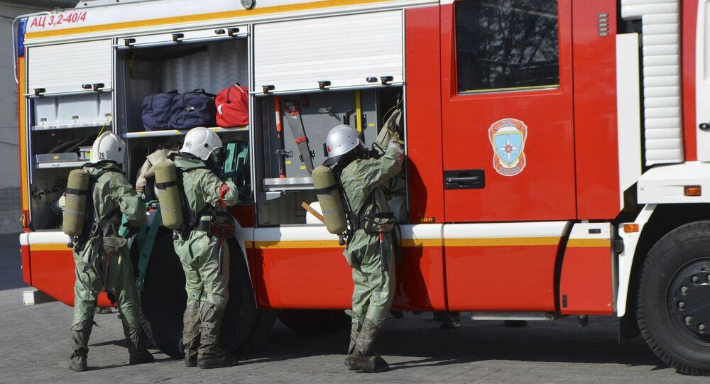 Fire servicemen in Russia