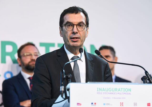 CEO of the French railway company SNCF Jean-Pierre Farandou in Chambery