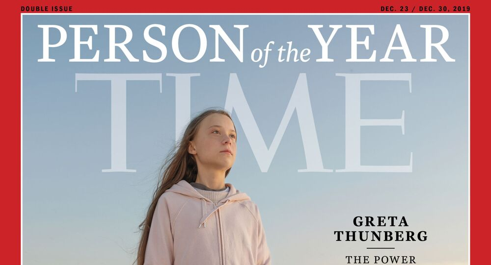 The Time person of the Year December 23/December 30, 2019 cover with Greta Thunberg