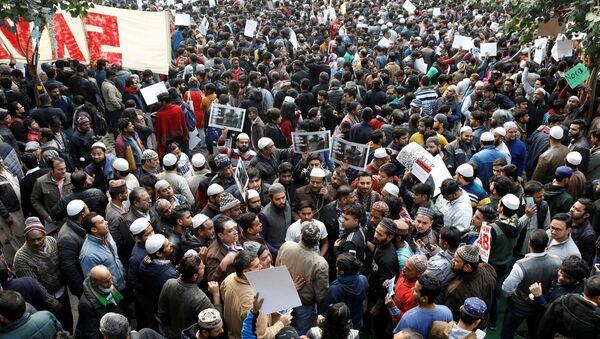 Protesters in New Delhi, India - Sputnik International