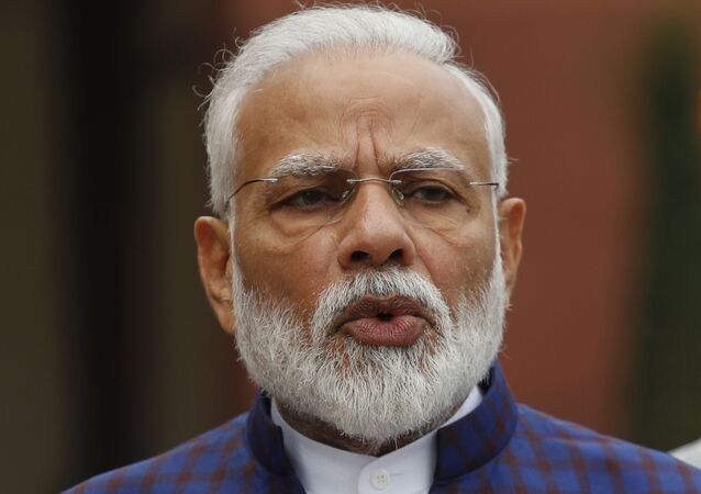 Indian Prime Minister Narendra Modi, addresses the media on the opening day of the winter session of the Parliament in New Delhi, India, Monday, Nov.18, 2019