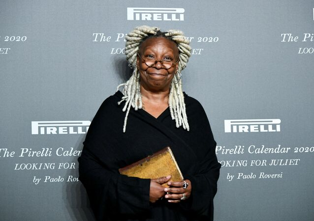 Actor Whoopi Goldberg poses at the launch of the Looking for Juliet 2020 Pirelli Calendar in the northern Italian city of Verona, Italy, December 3, 2019.