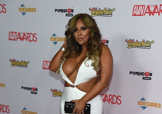 Adult film actress Kiara Mia attends the 2016 Adult Video News Awards at the Hard Rock Hotel & Casino on January 23, 2016 in Las Vegas, Nevada