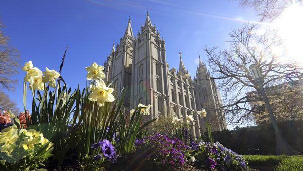 The Salt Lake Temple is shown Friday, April 19, 2019, in Salt Lake City. The iconic temple central to The Church of Jesus Christ of Latter-day Saints faith will close for four years to complete a major renovation, and officials are keeping a careful eye on construction plans after a devastating fire at Notre Dame cathedral in Paris. Church President Russell M. Nelson said Friday the closure will begin in December - Sputnik International