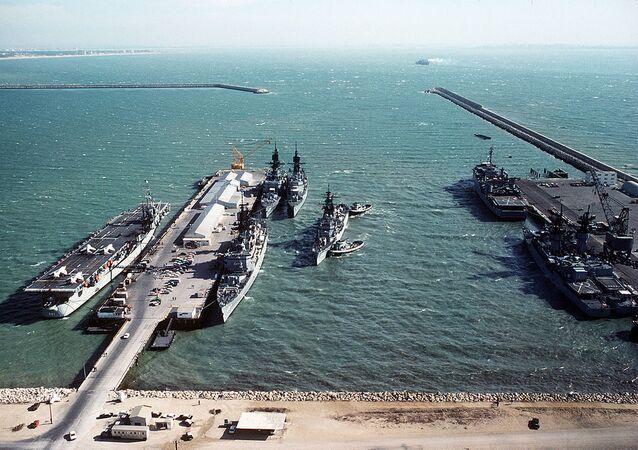 Warships at Naval Station Rota (File)