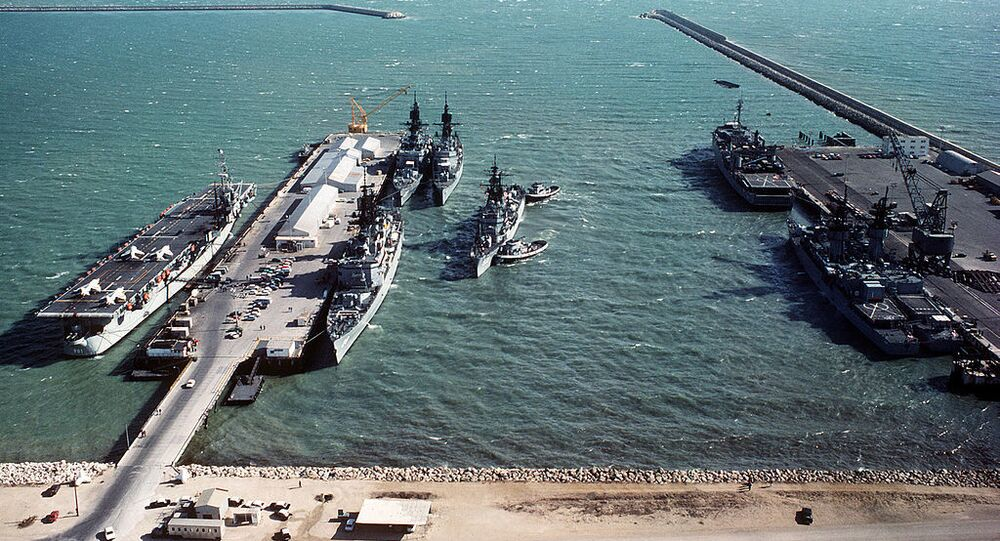 Warships at Naval Station Rota (File)