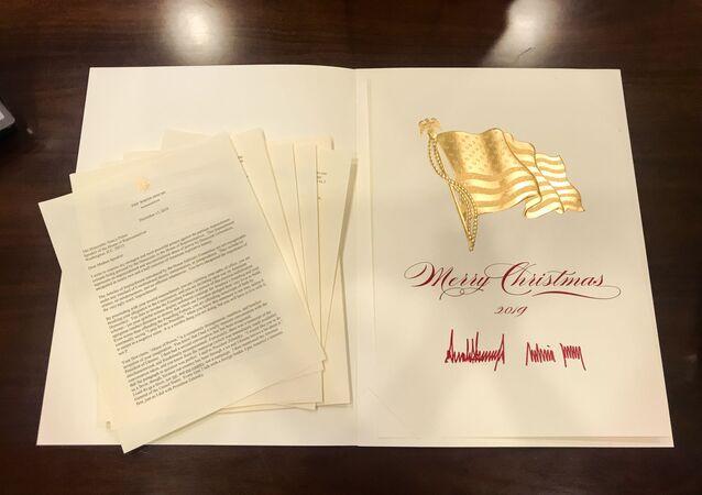 White House Sends Senators Christmas Card With Trump Letter to Pelosi Ahead of Impeachment Vote 18.12.2019