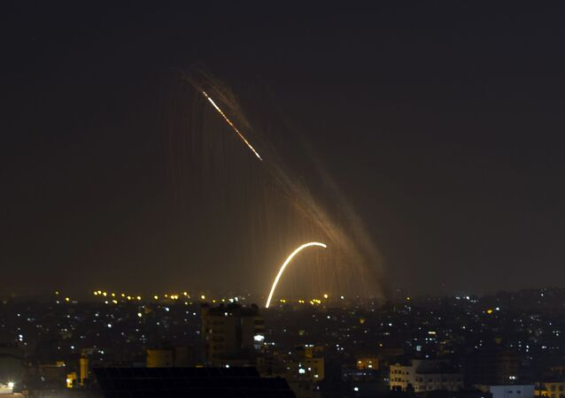 Rockets are launched from the Gaza Strip towards Israel, 13 November 2019