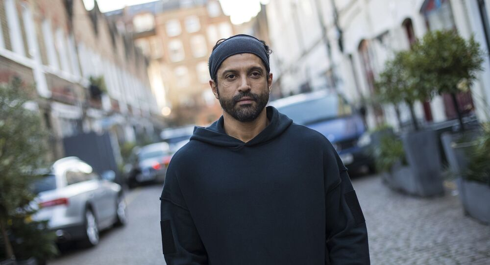 In this Feb 7, 2019, photo, actor and U.N. He for She Ambassador Farhan Akhtar poses for a portrait photograph in London. Farhan has expressed concern for the victims of sexual harrassment in Bollywood