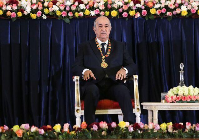 Newly elected Algerian President Abdelmadjid Tebboune attends a swearing-in ceremony in Algiers, Algeria December 19, 2019