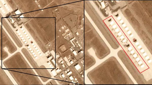 A dozen mystery objects appeared on December 9, 2019, satellite photos of Tonopah Test Range in Nevada - Sputnik International