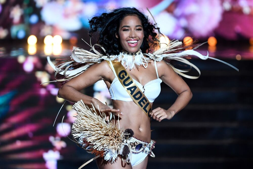 Miss Guadeloupe Clemence Botino performs on stage during the Miss France 2020 beauty contest in Marseille, on 14 December 2019. Botino has been crowned Miss France 2020.