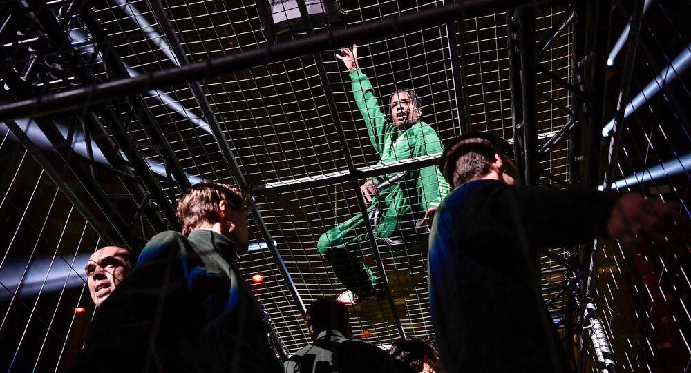 U.S. rap artist ASAP Rocky (Rakim Mayers) performs at the Stockholm Globe Arena in Stockholm, Sweden December 11, 2019