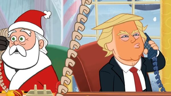 """CBS's """"The Late Show with Stephen Colbert offered a mocking new Christmas special called """"Once Upon Impeachment"""" - Sputnik International"""
