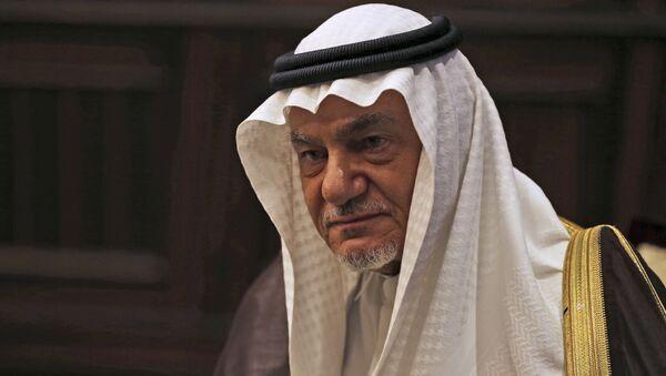 Saudi Prince Turki al-Faisal talks to the Associated Press in Abu Dhabi, United Arab Emirates, Saturday, 24 November 2018. - Sputnik International