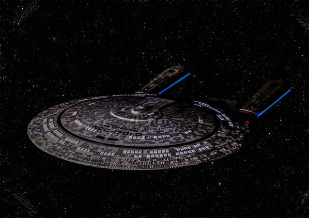 USS Enterprise-E (NCC-1701-E) in a starfield