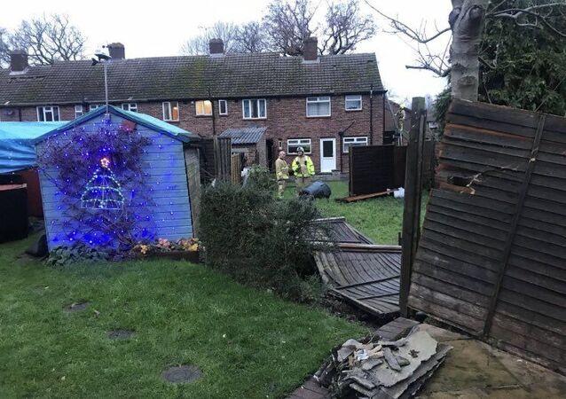 Devastating Rare Tornado Crushes Houses, Properties in Surrey South East UK 21.12.2019