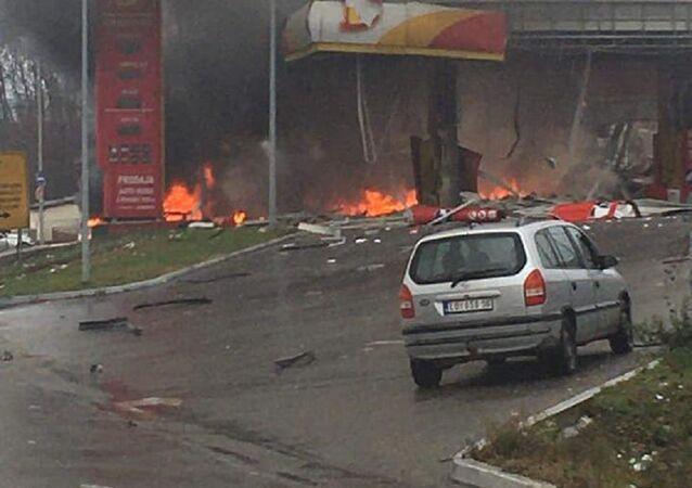 Explosion at gas station