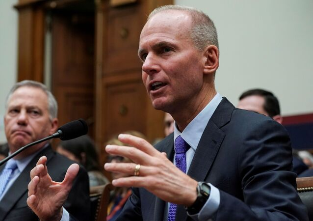 Boeing Chief Executive Dennis Muilenburg testifies before the House Transportation and Infrastructure Committee during a hearing on the grounded 737 MAX in the wake of deadly crashes, on Capitol Hill in Washington, U.S., October 30, 2019