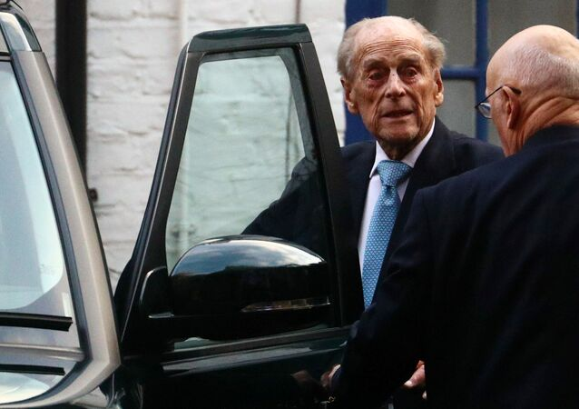 Britain's Prince Philip enters a car as he leaves the King Edward VII's Hospital in London, Britain December 24, 2019