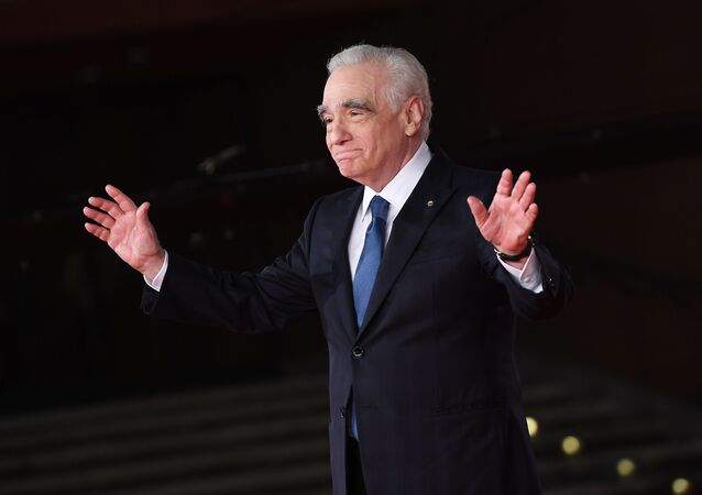 Director Martin Scorsese poses on the red carpet for the movie The Irishman at the 14th Rome Film Festival, in Rome, Italy.
