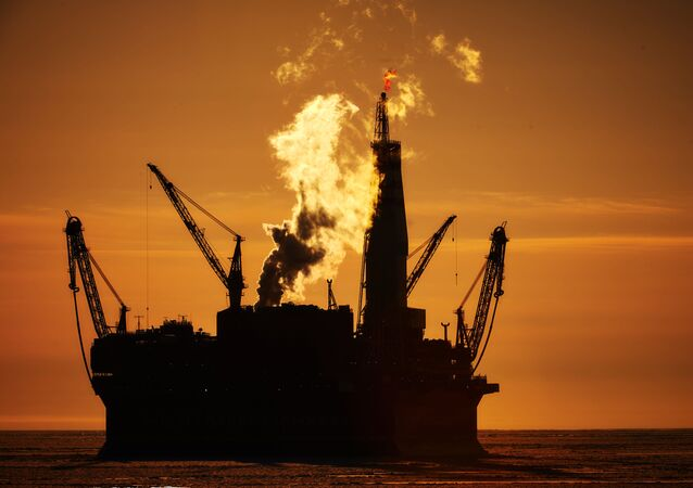 Russian offshore oil platform
