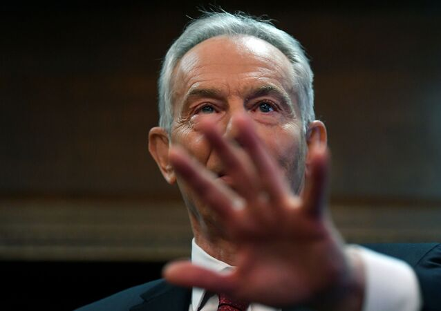 Former British Prime Minister Tony Blair speaks at the Hallam Conference Centre in London, Britain, December 18, 2019.