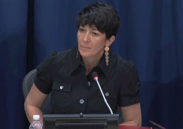 Ghislaine Maxwell, longtime associate of accused sex trafficker Jeffrey Epstein, speaks at a news conference on oceans and sustainable development at the United Nations in New York, U.S. June 25, 2013 in this screengrab taken from United Nations TV footage.