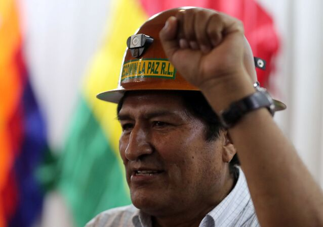 Former Bolivian President Evo Morales n Buenos Aires, Argentina
