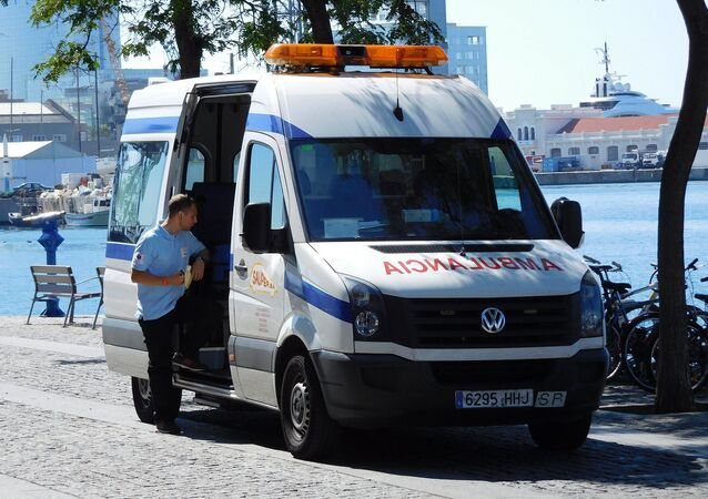 Sauper S.A. Volkswagen Crafter ambulance, Barcelona, Spain