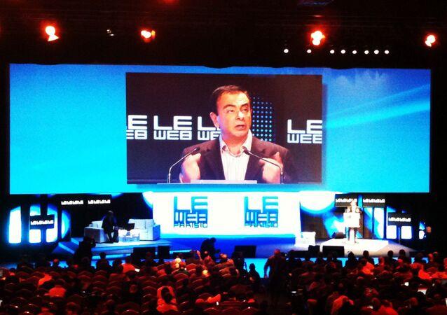 Former Renault-Nissan Alliance Chairman Carlos Ghosn
