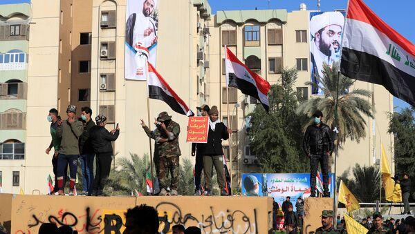Protesters Outside the US Embassy in Baghdad - Sputnik International