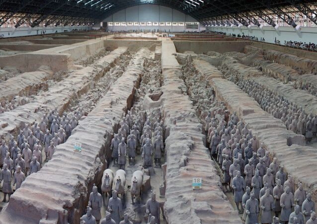 The Terracotta Army expands as 220 more earthenware 'warriors' are uncovered in the necropolis of the Chinese emperor Qin Shi Huang.