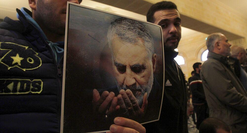 Picture of Slain Iranian Revolutionary Guards Major General Qasem Soleimani