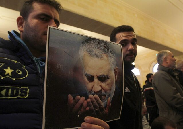 Picture of Slain Iranian Revolutionary Guards Major General Qasem Soleimani