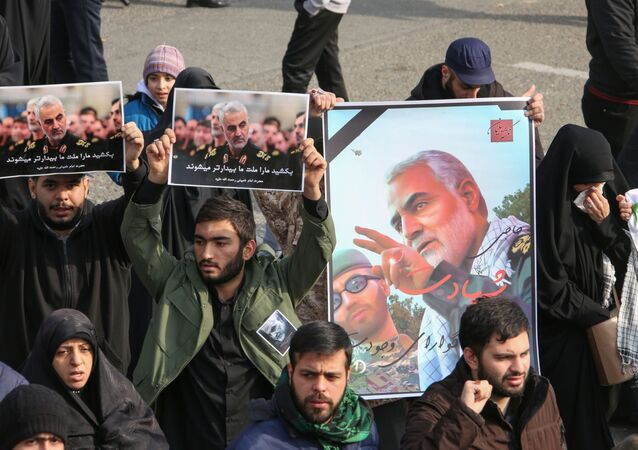 Pictures of Slain Iranian Revolutionary Guards Major General Qasem Soleimani